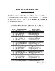 Names of candidates shortlisted for interview of ... - Bose Institute