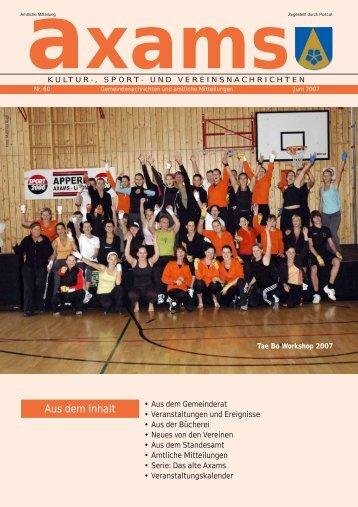 Axamer Zeitung Nr. 60 (0 bytes) - Gemeinde Axams - Land Tirol