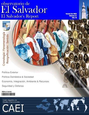Observatorio de El Salvador, Nº11, Verano sur 2012 - CAEI
