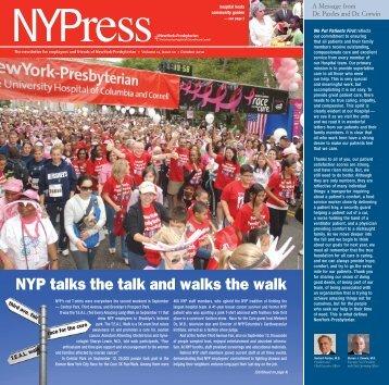 October 2010 NYPress - New York Presbyterian Hospital