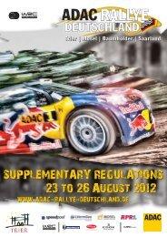 Ausschreibung 2012 - ADAC Rallye Deutschland