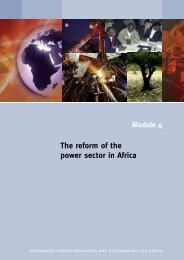 The reform of the power sector in Africa - unido