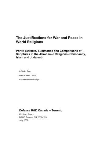 Part I: Abrahamic Religions (pdf) - Dr. Walter Dorn