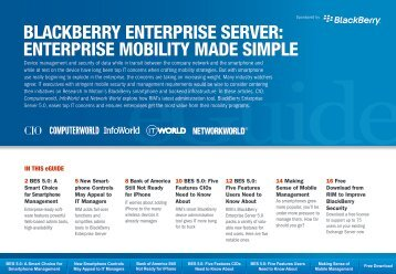 BLACKBERRY ENTERPRISE SERVER ... - Computerworld
