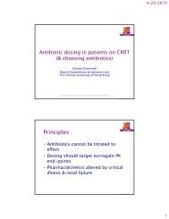 Antibiotic dosing in patients on CRRT - RM Solutions