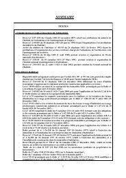 SOMMAIRE - Ministère de l'Habitat, de l'urbanisme et de la politique ...