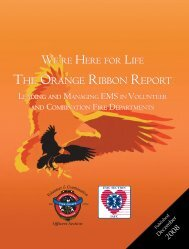 the orange ribbon report - International Association of Fire Chiefs