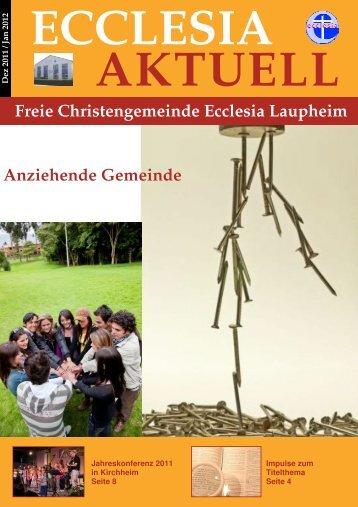 titelthema - Freie Christengemeinde Ecclesia Laupheim