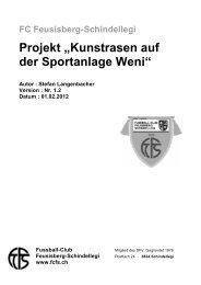 """Projekt """"Kunstrasen auf der Sportanlage Weni"""" - FC Feusisberg ..."""