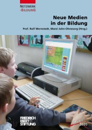 Neue Medien in der Bildung - Bibliothek der Friedrich-Ebert-Stiftung