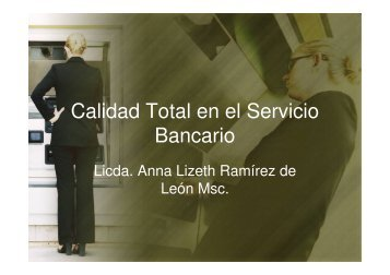 Calidad Total en el Servicio Bancario - Educacion Virtual
