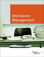 Attendance Management Guide - Hicks Morley