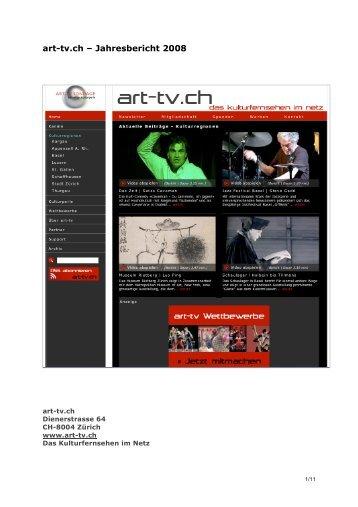 art-tv.ch – Jahresbericht 2008