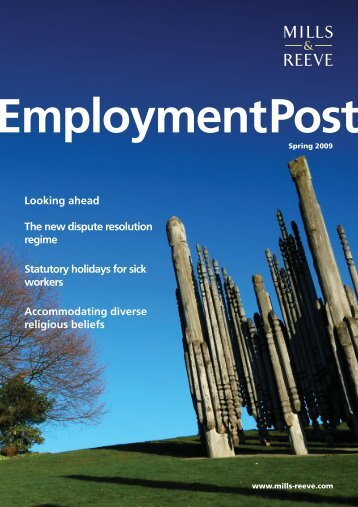 Employment Post Spring 2009 - Mills & Reeve