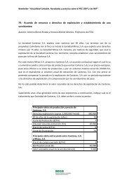79.- Acuerdo de renuncia a derechos de explotación y ... - Aeca