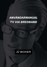 AnvändArmAnuAl Tv viA bredbAnd - Boxer
