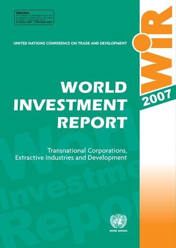 WORLD INVESTMENT REPORT - CommDev