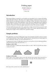 Folding paper - Arbelos