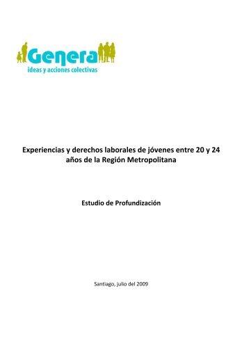 GENERA Experiencias y derechos laborales de jóvenes entre 20 y ...