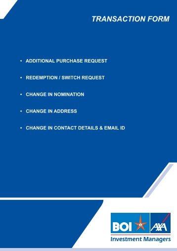 Transaction Form 180512.cdr - BOI AXA