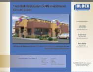 Taco Bell Restaurant NNN Investment - Block and Company