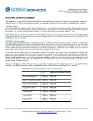 TECHNICAL SUPPORT AGREEMENT - Cornerstone Consulting