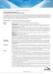 Factsheet Maximus Long Flex Bond - fairvesta Europe AG