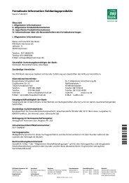 Fernabsatz-Information Geldanlageprodukte - PSD Bank Hannover eG