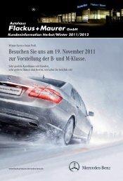Kundeninformation Herbst/Winter 2011/2012 - Autohaus Flackus + ...