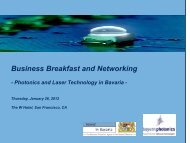 Photonics and Laser Technology in Bavaria - the Bavarian US ...
