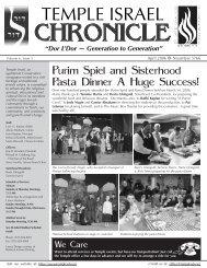 ChronicleSept05 - Temple Israel