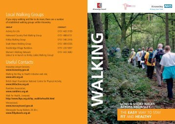 Local Walking Groups Useful Contacts - Halton and St Helens PCT