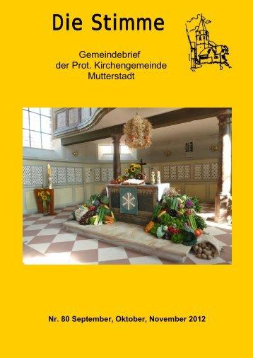 Die Stimme - Protestantische Kirchengemeinde Mutterstadt