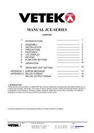 MANUAL JCE-SERIES - Vetek Scales