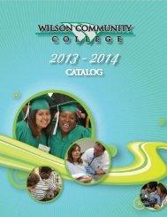 2013 - 2014 Academic Catalog - Wilson Community College
