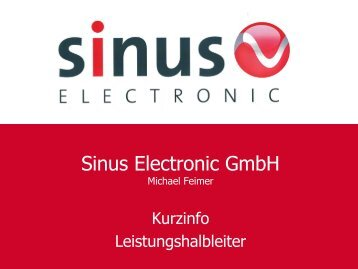 Download PDF-Datei (3,8 MB) - SINUS Electronic