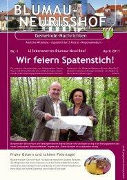 NeuriSShof Gemeinde-Nachrichten - Blumau Neurißhof