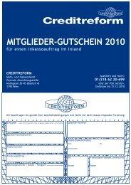 MITGLIEDER-GUTSCHEIN 2010