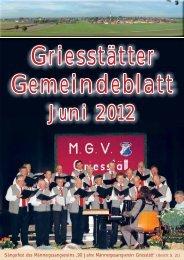 Gemeindeblatt Juni 2012 - Griesstätt