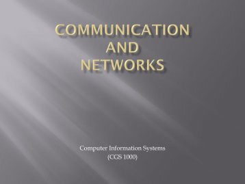 Networks & Communication - Tiona Consulting
