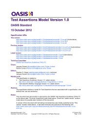 Test Assertions Model Version 1.0 - OASIS Open Library