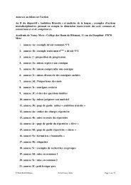 Annexes au bilan de l'action, 75 pages - Académie de Nancy-Metz