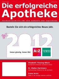 Ausgabe 01.2012 - Die erfolgreiche  Apotheke - Fachzeitschrift für ...