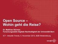 swissICT Open Source – Wohin geht die Reise - bzb Weiterbildung