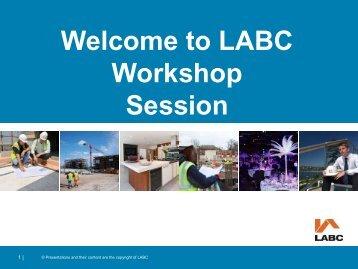 Workshops - LABC