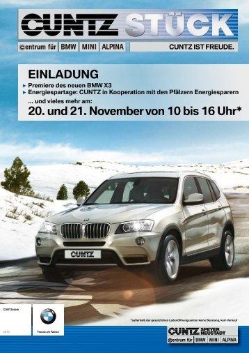 CUNTZ intern - Home: Herzlich Willkommen bei Ihrem BMW Partner