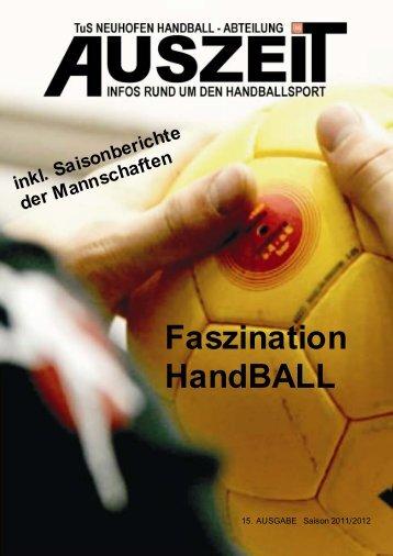 Ausgabe 2011 - Handball TuS Neuhofen