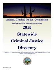 2013 Statewide Criminal Justice Directory - Arizona Criminal Justice ...