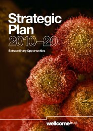 Strategic Plan 2010-20 - Wellcome Trust