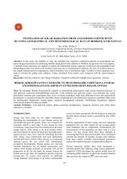 estimation of solar radiation from angstroms coefficients by using ...